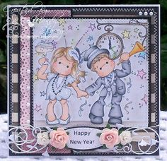 Happy New Year stamps from Magnolia Stamps