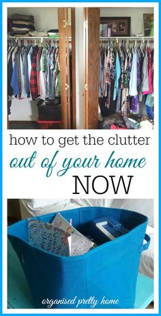 How to get rid of clutter from your home. When you are cleaning out and organizing in your room, consider what to do with the stuff you are removing from the spaces. Whether clothing, papers etc find out how to make decluttering fast and easy. - Organised Pretty Home #declutter #declutteringideas #clutterfree