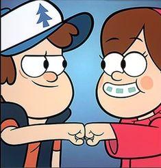 Dipper y Mabel Gravity Falls Dipper, Gravity Falls Art, Fall Wallpaper, Disney Wallpaper, Dipper E Mabel, Monster Falls, Desenhos Gravity Falls, Cartoon Profile Pics, Fall Pictures