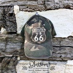 Route 66 Ladies Travel Hat - Accessories - Ballcaps - Vintage and Handmade Prairie Style Goods Travel Hat, Historic Route 66, Baseball Hats, Trending Outfits, Unique Jewelry, Handmade Gifts, Etsy, Accessories, Vintage