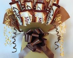 Mars Bar Chocolate Bouquet Gift Anniversary Birthday | Etsy Cadbury Twirl, Mars Chocolate, Chocolate Wrapping, Mars Bar, Chocolate Bouquet, Luxury Packaging, Gift Hampers, Surprise Gifts, Valentine Gifts