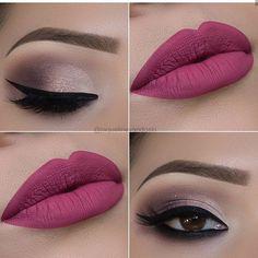 Está lindo ese maquillajes me encantaría 😍 Dusty Rose Lipstick, Lipstick Shades, Pretty Makeup, Sexy Makeup, Perfect Makeup, Insta Makeup, Girls Makeup, Cute Makeup, Simple Makeup