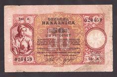 YUGOSLAVIA  Slovenia  50 Lire 1944 VG/F  WWII- LAIBACH  GERMAN OCCUPATION  RARE!