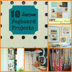 10 Awesome Pegboard Projects - Organize and Decorate Everything I love pedal board Pegboard Garage, Pegboard Organization, Laundry Room Organization, Organization Ideas, Kitchen Pegboard, Diy Garage, Storage Ideas, Diy Arts And Crafts, Diy Crafts