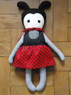 Lady Bug - Fabric Rag Doll