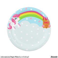 cute unicorn Paper Plate  sc 1 st  Pinterest & Peach Solid Color Paper Plate   Peach