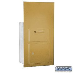 Collection Unit For 7 Door High Mailbox Units Gold Front Loading Private Access With Keys Commercial Mailboxes, Gold Fronts, 2 Keys, Locker Storage, The Unit, Doors, Collection, Gate