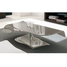 photo Table basse laquée - Topaz couleur - taupe