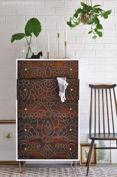 Amazing DIY Perforated Dresser Upcycle