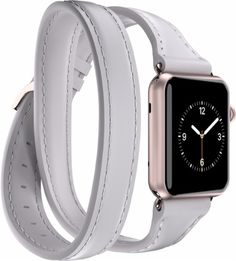 GRIFFIN - Uptown double-wrap band for Apple Watch 38mm - White - Angle Zoom