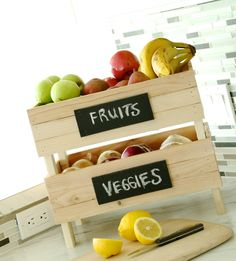 Stackable Fruit and Vegetable Storage Crates Ana White Ana White, Diy Organizer, Fruit And Vegetable Storage, Diy Home, Home Decor, Diy Inspiration, Ideias Diy, Diy House Projects, Wooden Projects