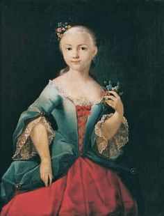 """Elizabeth Streshnevo in Childhood"" by Ivan Argunov (1760)"