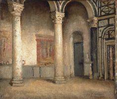 Interior of San Miniato, Florence by Annie Louisa Swynnerton, 1881