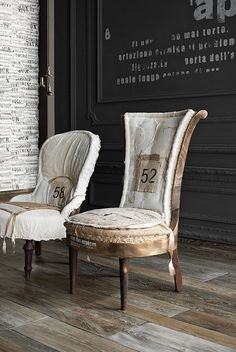 Deconstructed Chair -make Charlottes desk chair look deconstructed Old Chairs, Antique Chairs, Vintage Chairs, Vintage Furniture, Upholstered Furniture, Painted Furniture, Diy Furniture, Furniture Design, Painted Chairs