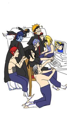 The Akatsuki squad watching Naruto Naruto Uzumaki Shippuden, Naruto Kakashi, Naruto Akatsuki Funny, Funny Naruto Memes, Naruto Anime, Naruto Comic, Wallpaper Naruto Shippuden, Naruto Cute, Boruto