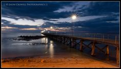 A photo from the Yorke Peninsula on sunset. Moonta Bay Jetty as the Night sets in #sky #jetty #dusk #sunset #australia #pier #dock #wharf