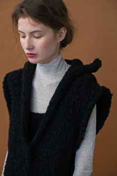 The Liza Vest Knitting Kits, Hand Knitting, Clean Slate, Vest, Turtle Neck, Collection, Fashion, Moda, Fashion Styles