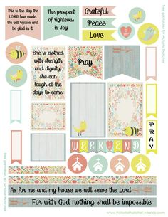Planner & Journaling Printables ❤ FREE Faith Printables Planner by Victoria Thatcher