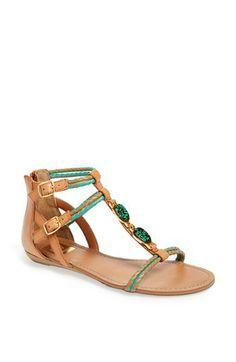Colored gladiator sandals