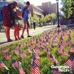 We commemorate 9/11 at Georgia Tech. The memorial on campus
