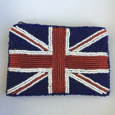 A personal favorite from my Etsy shop https://www.etsy.com/listing/491408881/union-jack-hand-beaded-coin-purse