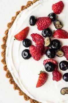 Berry Tart With Honey-Yogurt Filling.