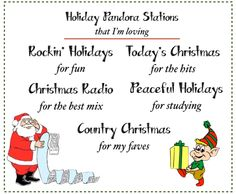 the best holiday pandora stations!