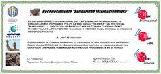 Reconocimientos 2014: José Manzaneda Distinción Solidaridad Internacionalista