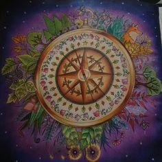 Minha Bússola/My Compass  Johanna Basford/ Enchanted Forest / Floresta Encantada/ Coloring Book/ Jardim Secreto/ Livro de colorir/