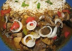 Houbový guláš II. Foie Gras, Korn, Japanese Food, Christmas Cookies, Cobb Salad, Sausage, Plates, Life, Per Diem