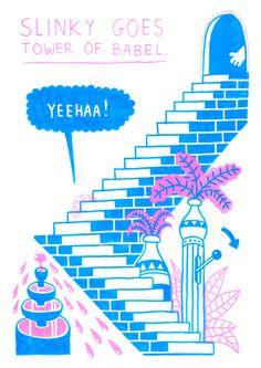 Slinky Babylon by Mister Jango Jim #illustration