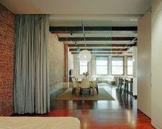curtain room divider – for temporary door solution @ DIY Home Ideas