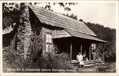 Home of a Cherokee Indian Pottery Maker, North Carolina.