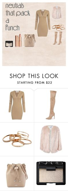 """""""sexy nude"""" by isatic on Polyvore featuring mode, Kendall + Kylie, Kendra Scott, Sans Souci, NARS Cosmetics et Charlotte Tilbury"""