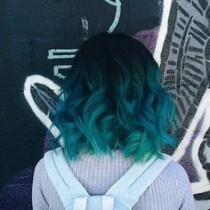 "Love her hair! Original caption said ""example of too much color"" uh. Fuck that never too much!"
