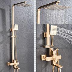 Shower Plumbing, Bathroom Shower Faucets, Shower Mixer Taps, Shower Faucet Sets, Shower Fixtures, Tub Shower Combo, Shower Set, Rain Shower, Plumbing Fixtures