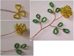 схема плетения желтой розы