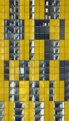 Veer Towers by Murphy Jahn, Las Vegas, Nevada, United States, approximately 50% of the glass lites on all four facades are color frit coated vision glass which further contribute to the energy efficiency of the facade while imparting a distinct character and aesthetic to the design.