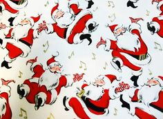 vintage Santa wrapping paper