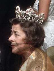 The last wearer of the set was Princess Margarita of Greece, Princess Alexandra's daughter-in-law. She wore the tiara to the 1962 wedding of  Juan Carlos of Spain and Sofia of Greece, as well as another  wedding in the 1970's (pictured). The princess died in 1981  and her jewels were auctioned off in 1989.