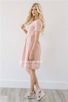 $49.99 Rose Cotton Sundress, Modest Dress Bridesmaids Dress, Church Dresses, dresses for church, modest bridesmaids dresses, trendy modest dresses, modest womens clothing, affordable boutique dresses, cute modest dresses, mikarose, best modest boutique