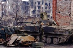 "bmashina: ""PT-76 of the MIA of Russia in Grozny. The second Chechen war. """