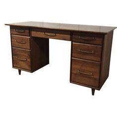 Mid Century Modern Jackson Desk By Jasper Desk Co
