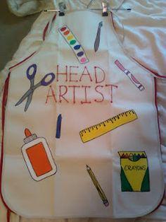 Miss Allison's Class: cute kid's art apron