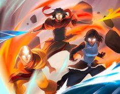 Avatar Aang Korra y Wan Arte