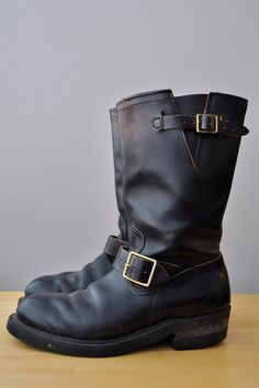 SOLD HY Test Womens Size 8 Motorcycle Engineer Boots by VACATIONSF, $192.00