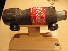 Coca-Cola pinewood derby car