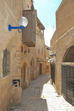 There are Remains of The Old Neighborhood (Neve Tzedek) in Tel Aviv, Israel.