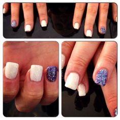 Glitter Acrylic Nails done at The Beauty Spot - Poynton