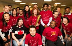 Team Canada wheelchair #basketball player Tamara Steeves and Parapan kayaker Suleiman Mus bring the 2012 Olympic torch to #CIBC Miracle Day.